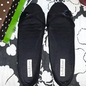 Black slip on flats